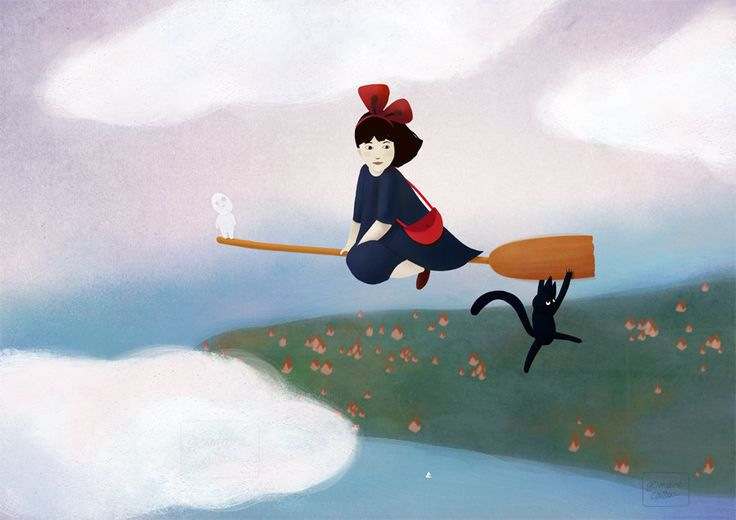 Kiki's delivery service fanart - A4 art print de la boutique ChezGermaineCaillou sur Etsy