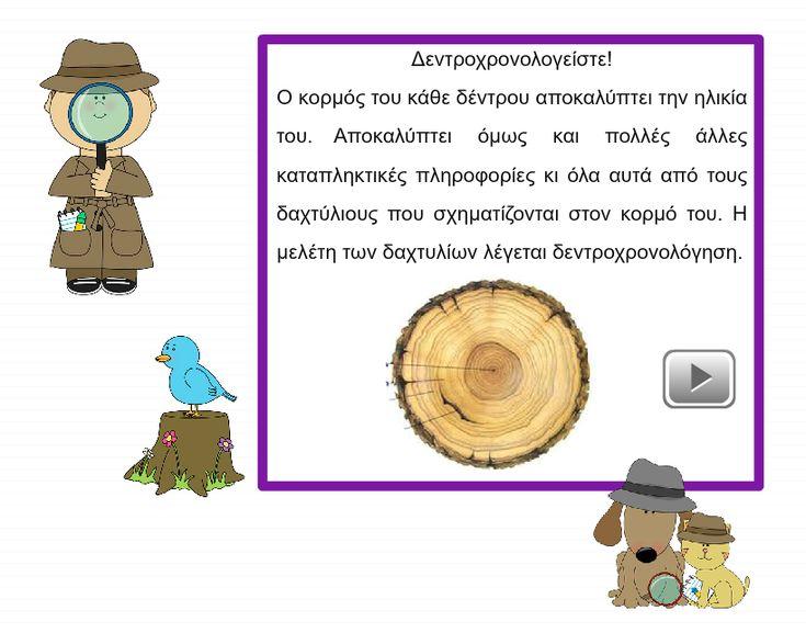 Διαδραστική Παρουσίαση για την περιβαλλοντική εκπαίδευση: Μάθετε πώς εντοπίζουμε την ηλικία κάθε δέντρου.