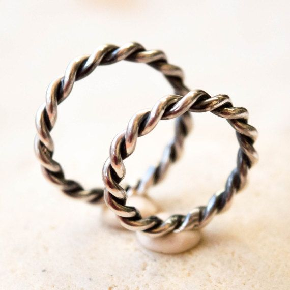 Sterling Silver Wedding Band Wedding Band Set Couples
