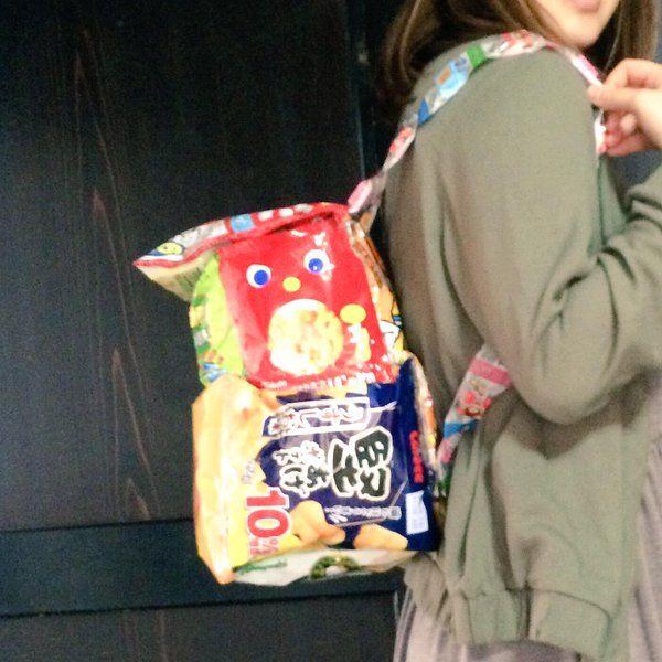 「おいしいバッグ!? 韓国JKに大流行の お菓子リュック 徹底調査」に含まれるツイート画像