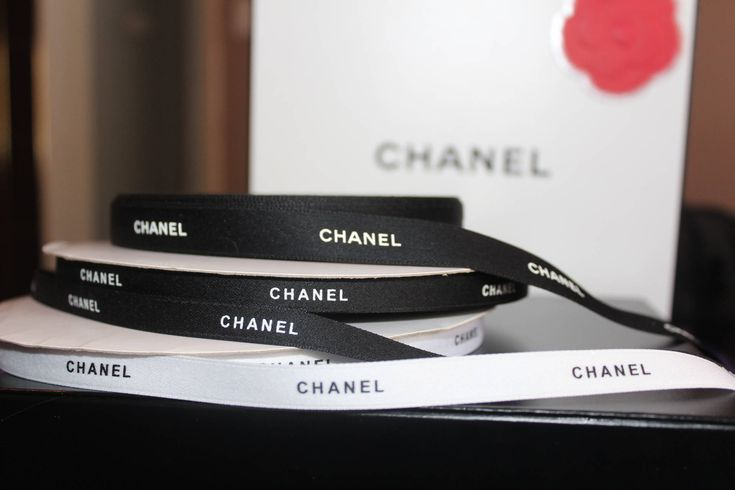 """Chanel ribbon by the yard, 3/8"""" authentic designer Chanel ribbon sold by the yard 36 inches"""