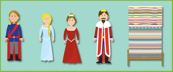 The Princess and the Pea Cut-Outs Characters