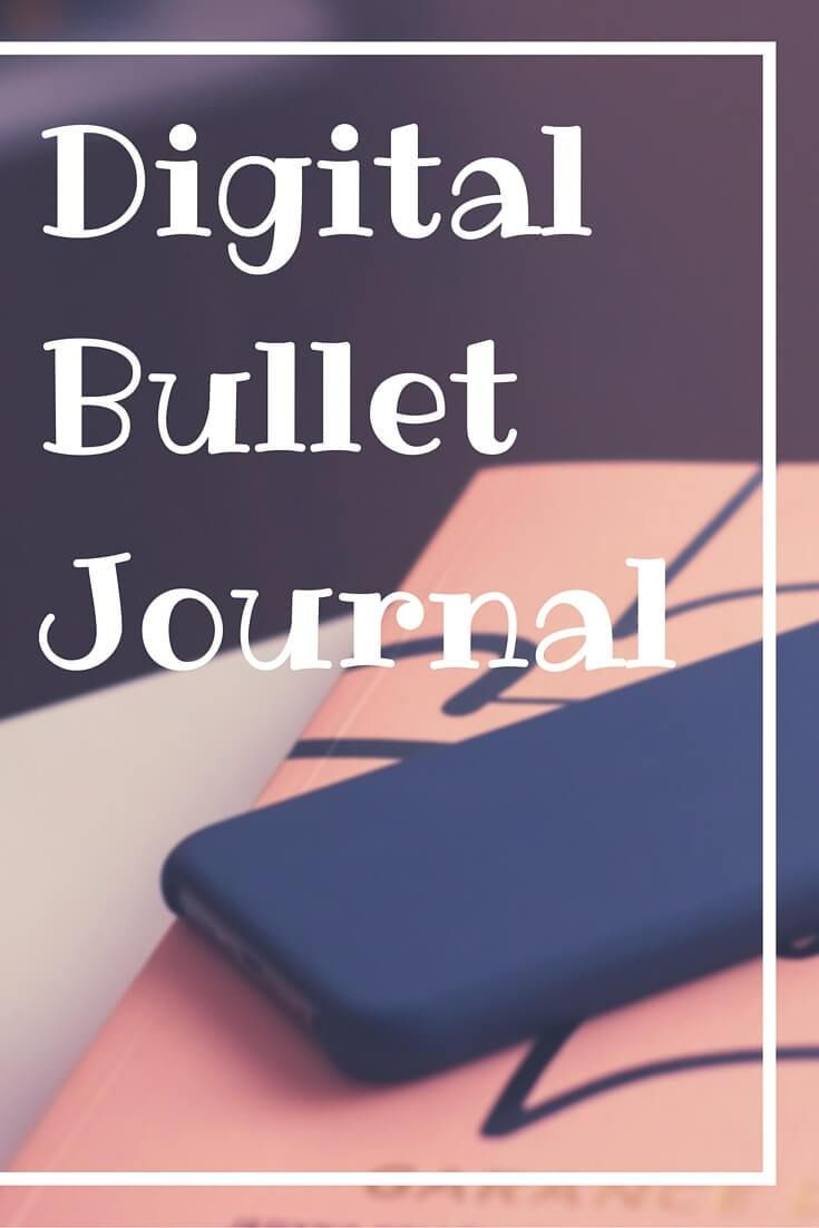 Digital Bullet Journal - want the flexibility of a bullet journal with the convenience of a digital calendar?