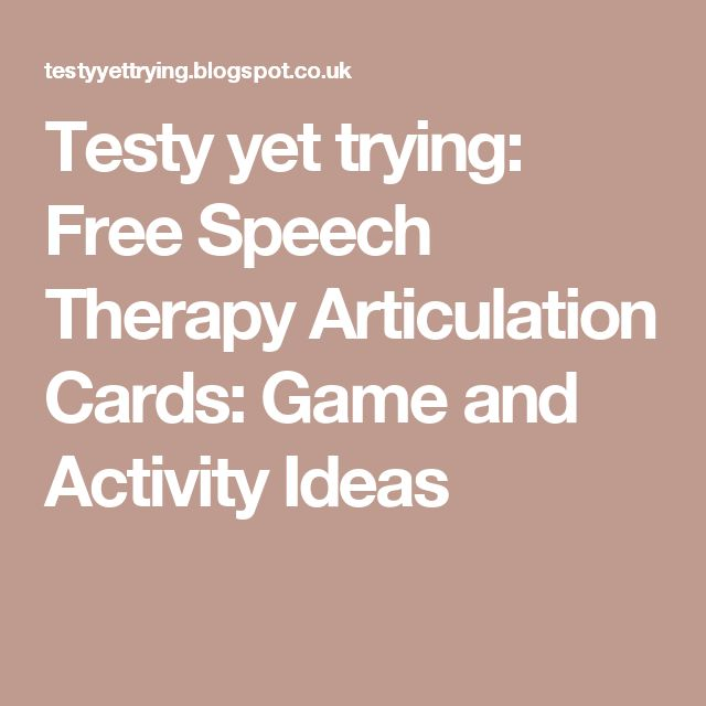 Testy yet trying: Free Speech Therapy Articulation Cards: Game and Activity Ideas