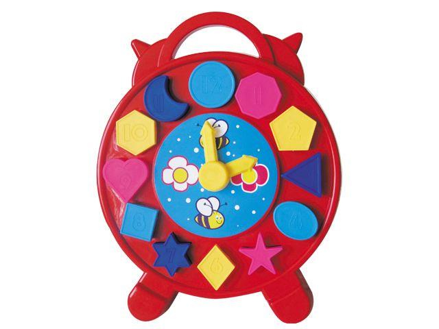 Reloj didáctico plástico encajable. Ref 8-07153