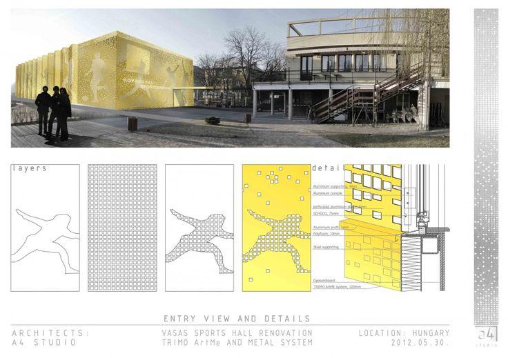 Vasas Sports Hall Facade Competition Entry / A4 Studio