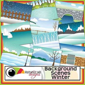 Background Scenes Winter contains 10 colored and 10 black and white background scenes for your products. Simply place your text and clip art over the background scene. Create product covers, posters, dioramas, worksheets, activities and other teaching resources.