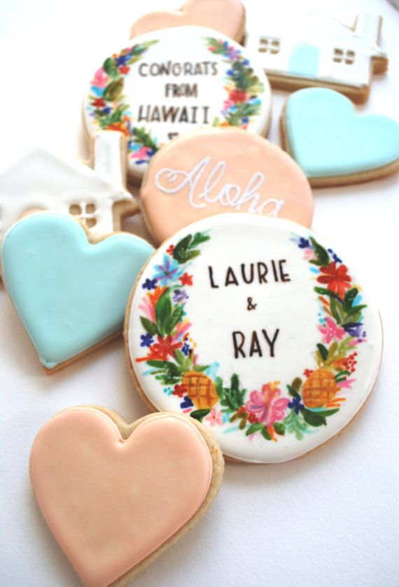 Just Luv'd on @Luvocracy |: Sugar Cookies, Wedding Favors, Sweet, Wedding Ideas, Honey Bakeshop, Beautiful Cookies, Wedding Cookies, Dessert