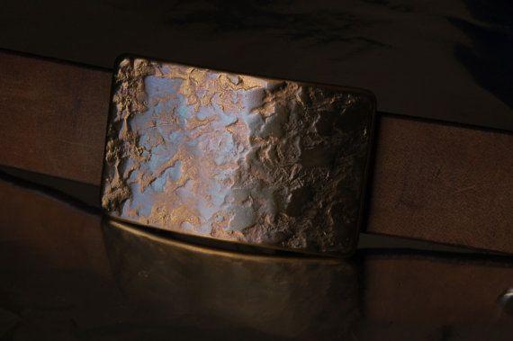 Men's & Women's Hand Forged Belt Buckle Copper by ironartcanada, $73.80