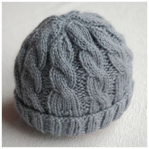 Newborn Knitting Hat Patterns | ... hat in Patons Bamboo Silk using the 10 cable baby hat pattern from Hey