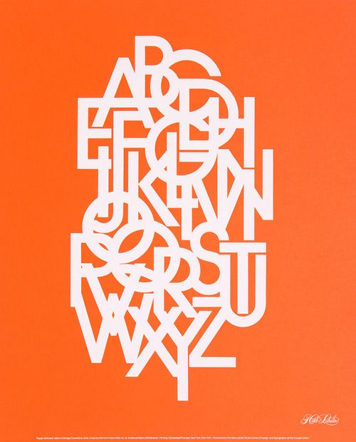 Typographical poster by Herb Lubalin