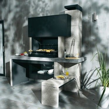 17 best ideas about barbecue en beton on pinterest cuisine exterieur barbecue a bois and bar. Black Bedroom Furniture Sets. Home Design Ideas