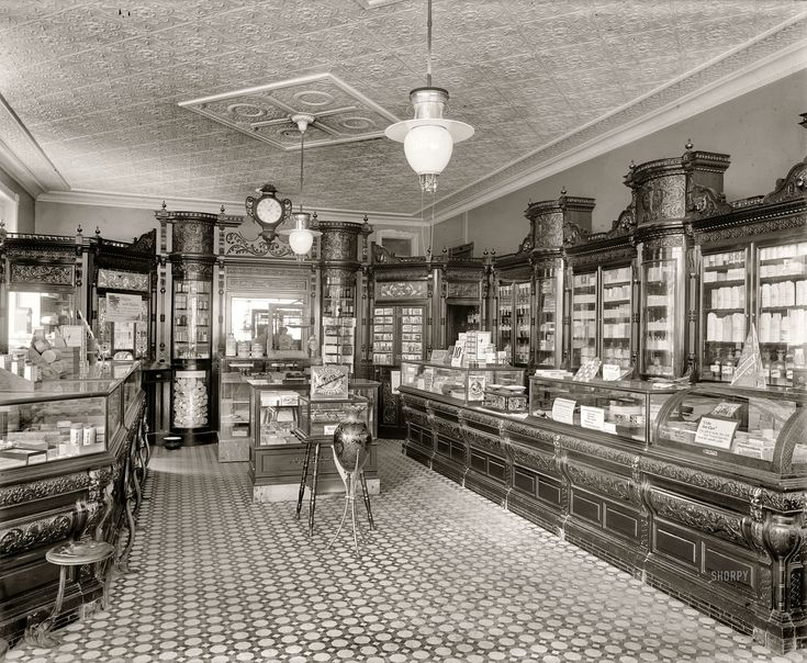 53 best pharmacies and drugstores images on pinterest for Old fashioned pharmacy soda fountain