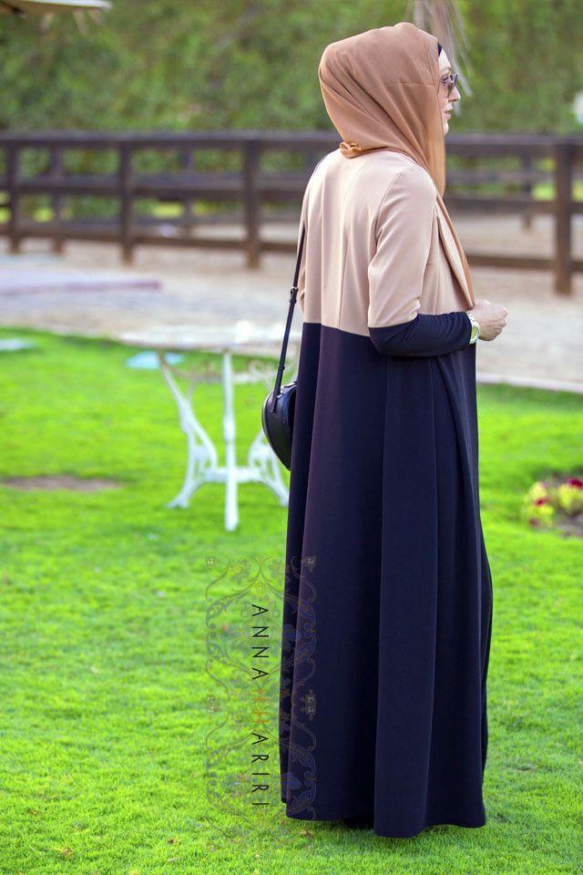 Two-tone Jacket | ANNAH HARIRI | ANNAH HARIRI-Jubah & Abaya