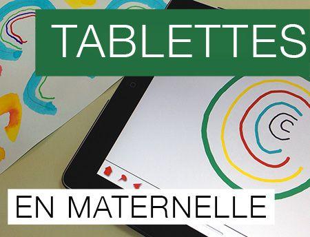 Tablettes en maternelles.