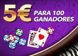 Esta semana, la sala de bingo online Botemanía ha decidido sortear 100 premios de 5€ entre todos aquellos usuarios que jueguen a sus juegos de casino, entre los que están los de ruleta, blackjack, jotas o mejor y siete y medio entre otros.Click aquí  http://www.mejorbingoonline.com/botemania-sortea-100-premios-de-5e-entre-todos-aquellos-que-jueguen-en-su-casino/