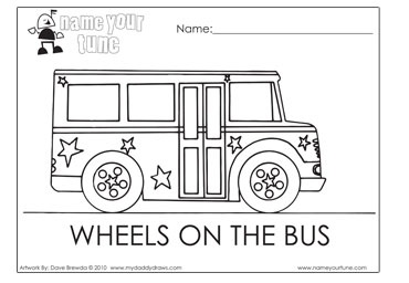 quot Wheels on the Bus quot Fun colouring