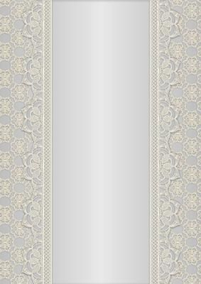 Vintage Lace Panel A4 Background Grey on Craftsuprint designed by Karen Adair - This is a pretty A4 sized background with a lace edged central panel. Great to line the outside of an A5 sized landscape tent card, or as an insert. Or whatever else you can think of! If you like this, check out my other designs, just click on my name. - Now available for download!
