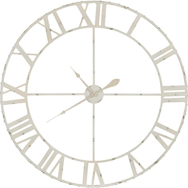 Cooper Classics Annency Aged Cream Wall Clock found on Polyvore