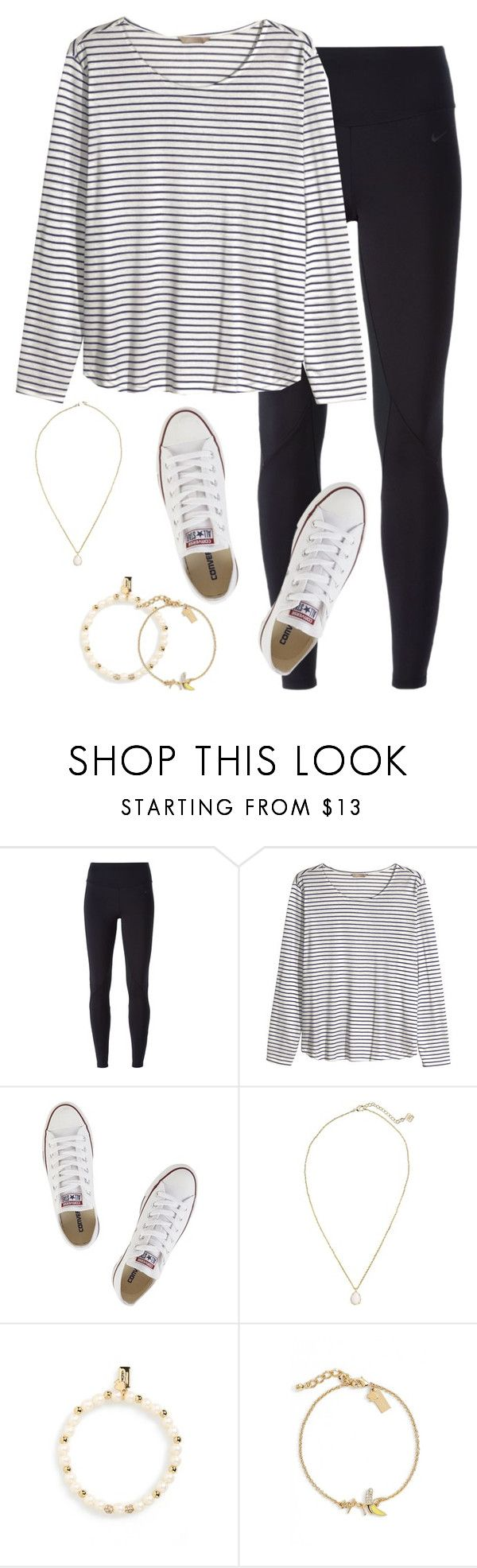 """""""Never take advantage of life, it can be takin away from you in a blink of an eye"""" by keileeen ❤ liked on Polyvore featuring NIKE, H&M, Converse, Kendra Scott and Kate Spade"""