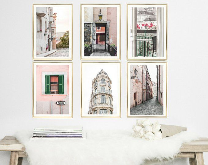 Blush Pink Travel Wall Art Photography Prints Of Cities In Europe Pink Wall Art Prints Blush Decor Pink Wall Art