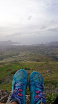 Merrell lightweight vegan trailrunning shoe. Click for more tips for the eco-concious & ethical adventure travel kit.