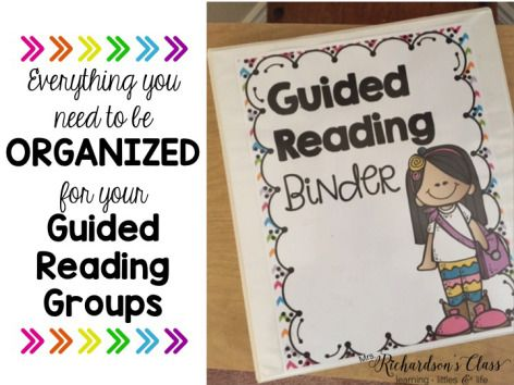 Awesome Guided Reading organizational tool! Every teacher needs this to get started! This binder makes it so simple!
