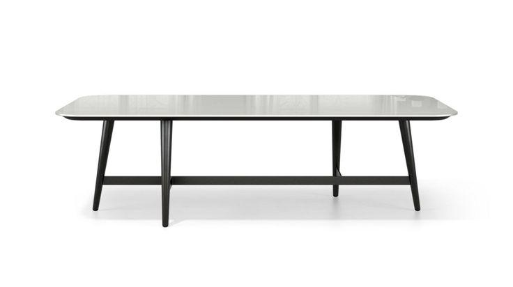 J'ai personnalisé le produit suivant : Table Basse Rectangulaire - Verre Laqué OCTET   #rochebobois #custoRB