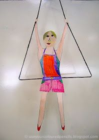 Use Your Coloured Pencils: Trapeze Artists