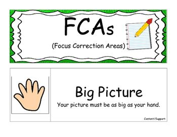 These Focus Correction Area cards go with John Collins writing.  You select three cards for the students to use when editing their writing.  Students are held accountable for correcting these three things in their piece of writing and are scored accordingly.