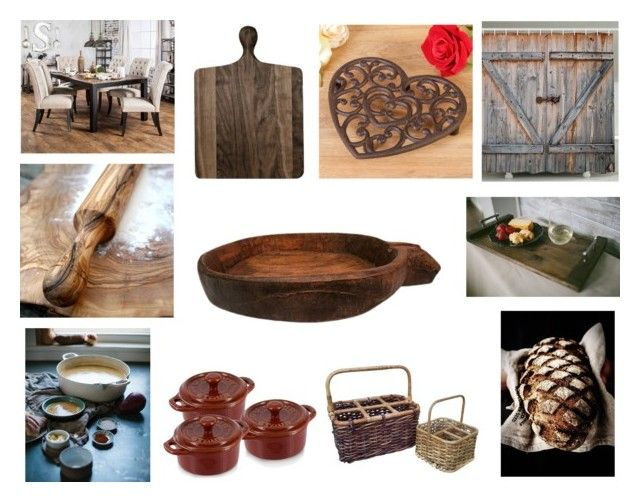 """""""Decorate with a Dough Bowl!"""" by gothicvamperstein on Polyvore featuring interior, interiors, interior design, home, home decor, interior decorating, Staub, Furniture of America and Dibor"""