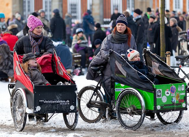 Lots of Copenhagen families have invested in Cargo Bikes and Long John's or just an extra seat to to take their children - and all their assorted gear - for a ride.