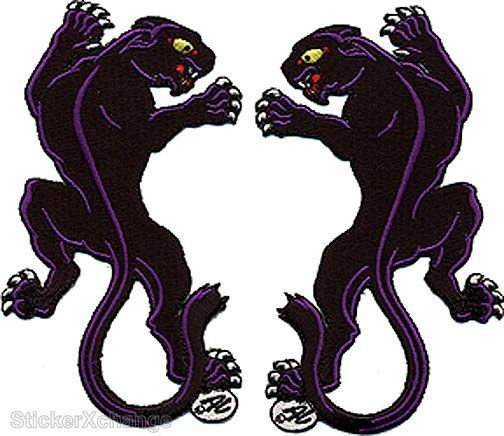 Panther Embroidered Patch Iron On Art Dan Collins DCP6 Pair Set Of Two in Art, Art from Dealers & Resellers, Mixed Media & Collage | eBay