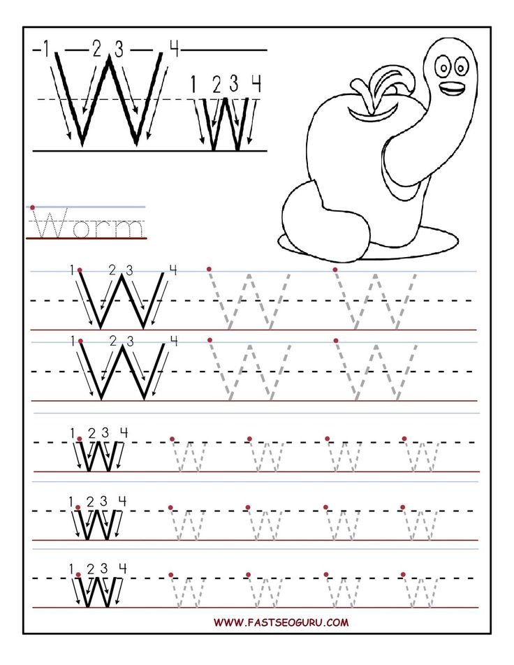letter a tracing for preschool printable letter w tracing worksheets for preschool 11049