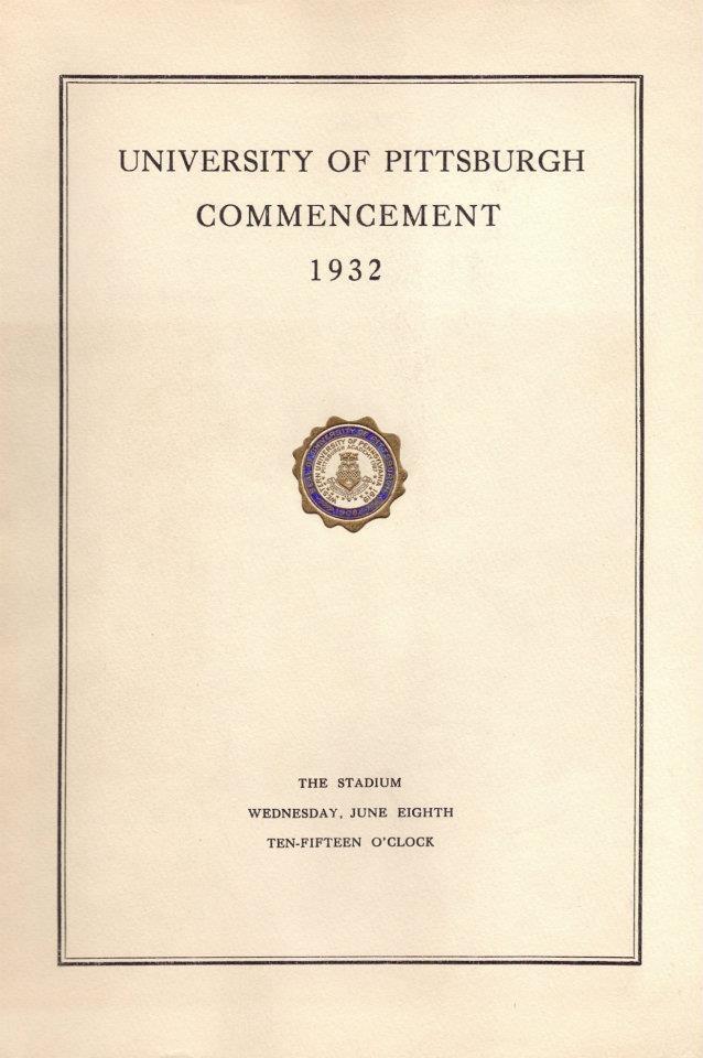 Andrew Svensonu0027s 1932 graduation program from the University of - graduation program
