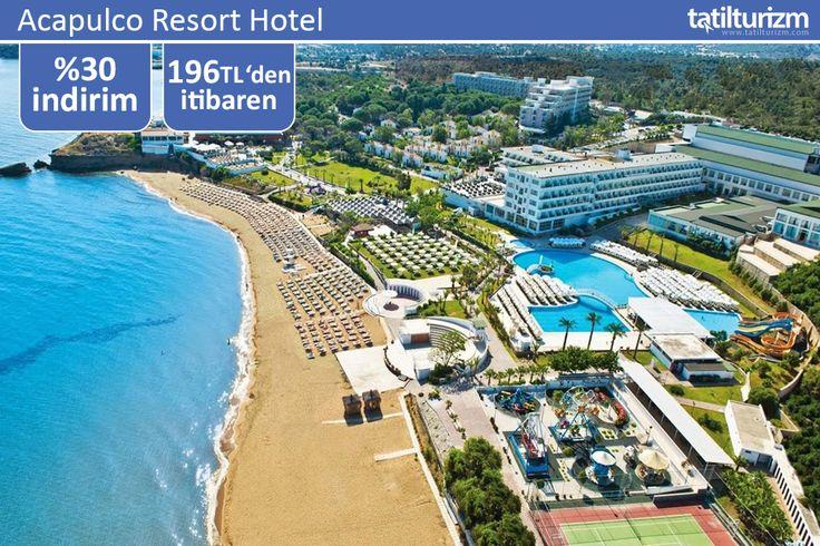 Girne-Çatalköy mevkiinde yer alan Acapulco Resort Hotel'in kendine özel plajında tatil fırsatı 196 TL'den başlıyor.