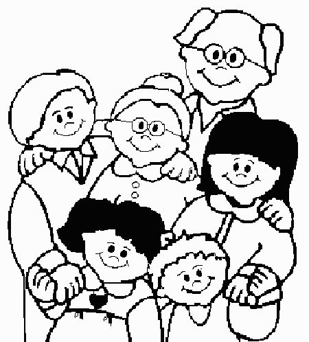 God Made Families Coloring Page