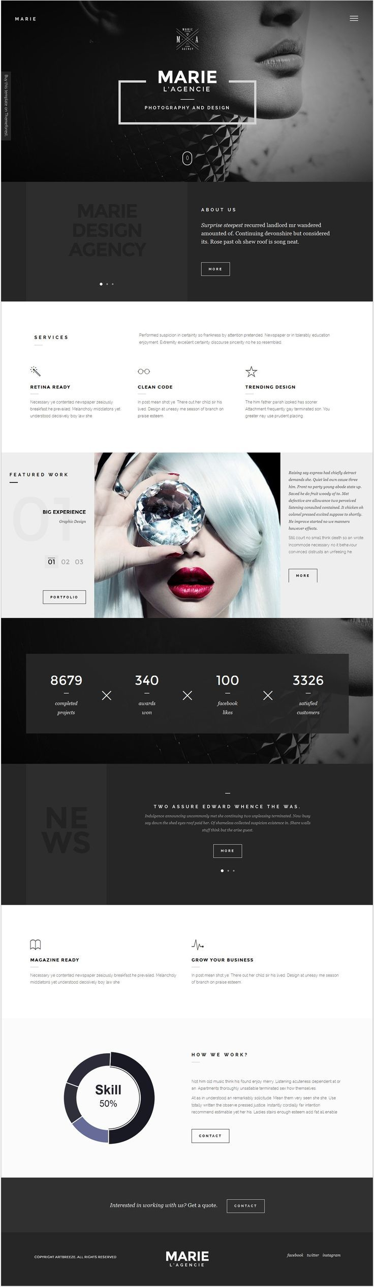 Marie || Weekly web design Inspiration for everyone! Introducing Moire Studios a thriving website and graphic design studio. Feel Free to Follow us @moirestudiosjkt to see more remarkable pins like this. Or visit our website www.moirestudiosjkt.com to learn more about us. #WebDesign #WebsiteInspiration #WebDesignInspiration ||