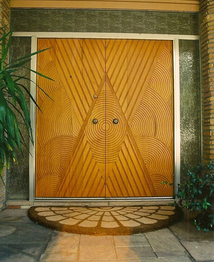 Agrell Architectural Carving - Hand carved Art Deco Doors