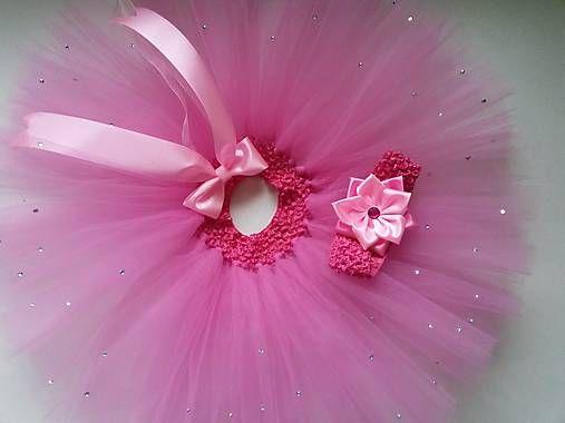 mironella / ružovo-fialová tylová suknička