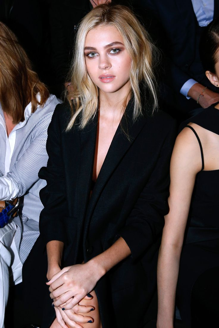 Balenciaga Front Row Nicolas Peltz-love Her eye makeup