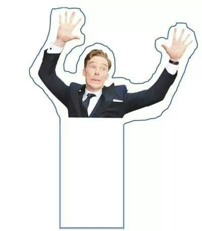 Make your own Cumberbomb bookmark! #sherlock #Benedict