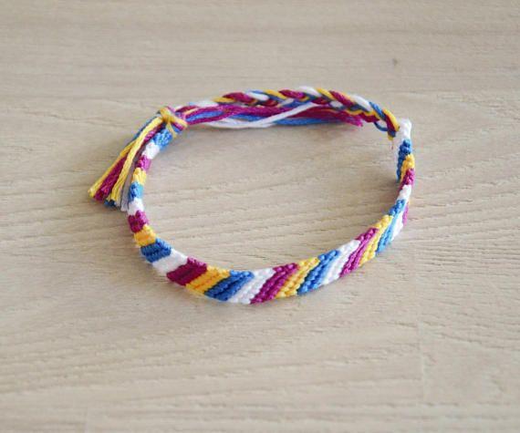 bracelet brésilien bracelet de l'amitié multicolore