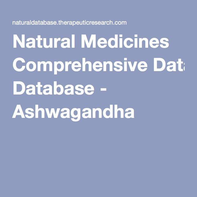 Natural Medicines Comprehensive Database - Ashwagandha