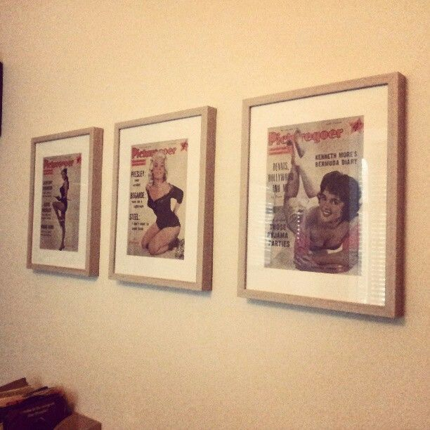 Vintage 50\'s film magazines repurposed as stylish wall decor | Home ...