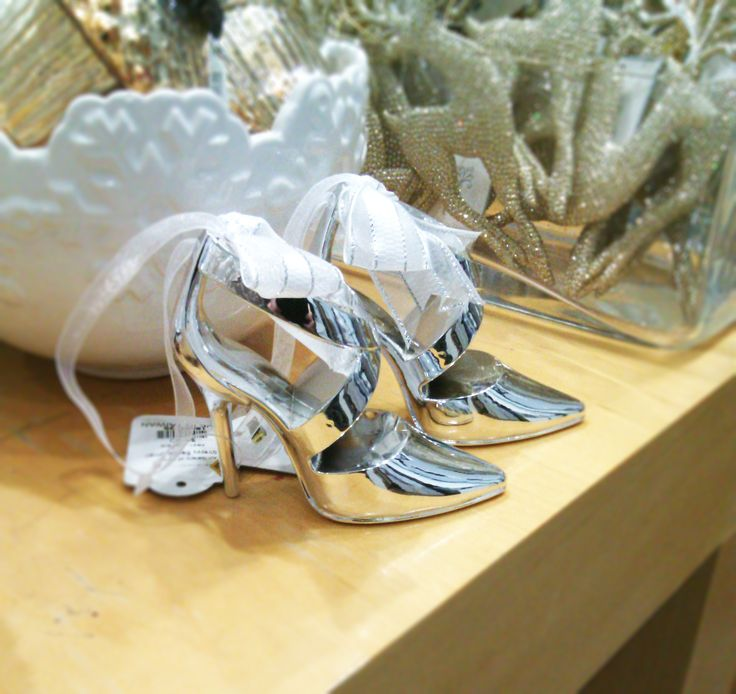 Dainty shoe ornaments are cute enough to be worn! #DesignAnnex #ShopatAGH #shoes #christmas #ornament