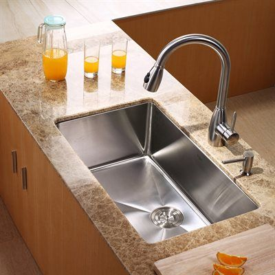 Kraus KHU100-30-KPF2130-SD20 Undermount Single Bowl Kitchen Combo Stainless…