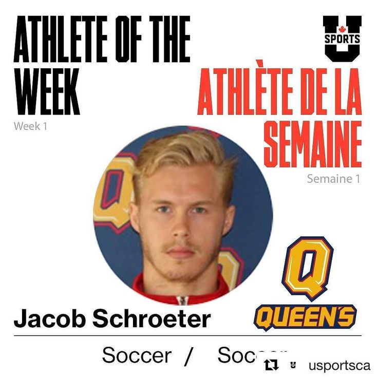 #Repost @usportsca  Jacob Schroeter @queensgaels  U SPORTS Male Athlete of the Week!  L'athlète de la semaine masculin de U SPORTS!