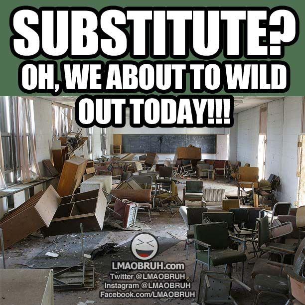 Substitute Teacher kid logic...