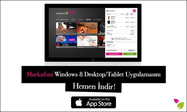 Windows 8 Desktop/Tablet uygulamamızla moda ve alışveriş tutkunlarının her an, her yerde yanındayız! Siz de mobil uygulamalarımızdan cihazınızla uyumlu olanını indirin, Markafonik aşkı her yerde yaşayın! http://apps.microsoft.com/windows/en-us/app/markafoni/069bee76-0ed2-4f65-90db-240e26db6069 #markafoni #iphone #download #app #teknoloji #alisveris #apple #shopping #moda #fashion #windows8